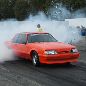 VERY  quick stang....8.68 @ 166+ MPH