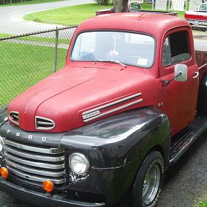 not exactly a mustang. but this is the truck that started my love of ford muscle. my dad's 1948 ford f1 pickup. all original metal. the only mod is a