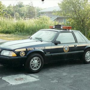 NYSP Mustang.HOW IT USE TO LOOK LIKE...........