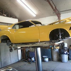 Side View of car with Front and Rear Suspensions installed.