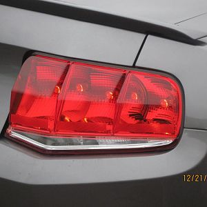 Close-up of Raxion tail lamps