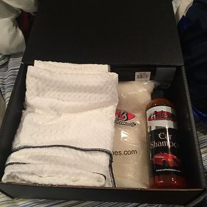 The mystery box: Purchase for $40, get $50 worth of products. Great deal for beginners, I received soap, a great drying towel and a wash pad that does