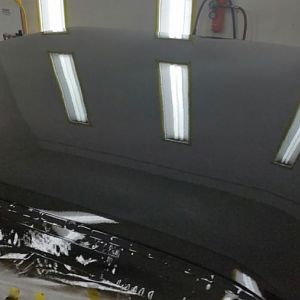 roof in clear coat