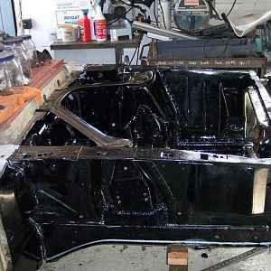 10/12/16 Applied the first coat of Master Series chassis black.